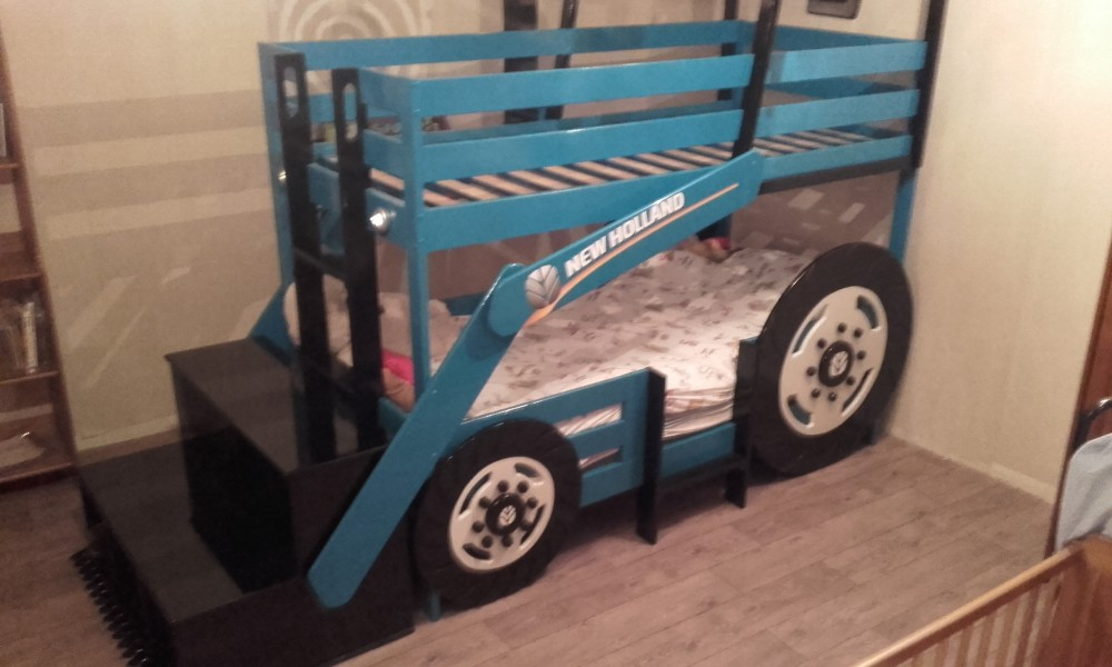 lit tracteur superpos menuiserie fagot. Black Bedroom Furniture Sets. Home Design Ideas