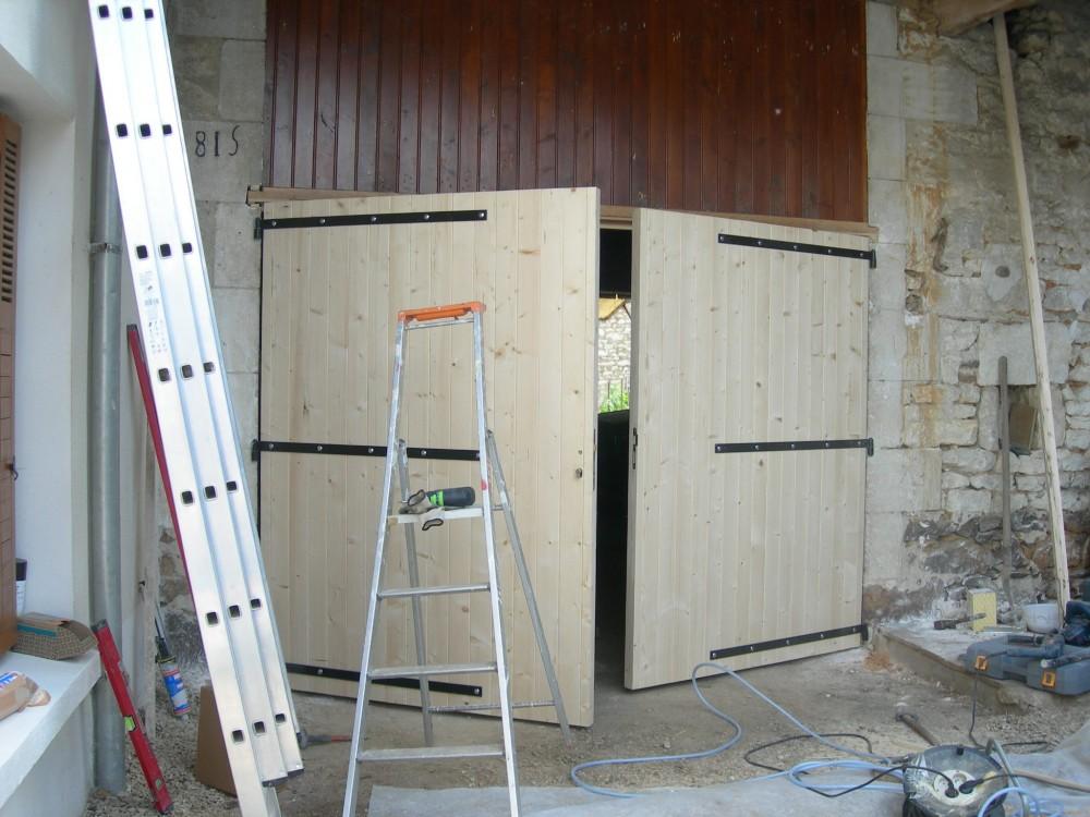 Porte porte double grange menuiserie fagot for Meuble porte grange