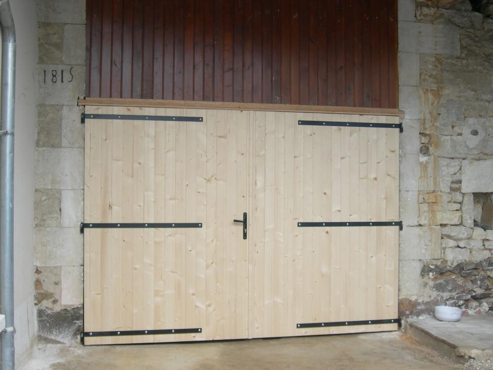 Porte porte double grange menuiserie fagot for Porte grange